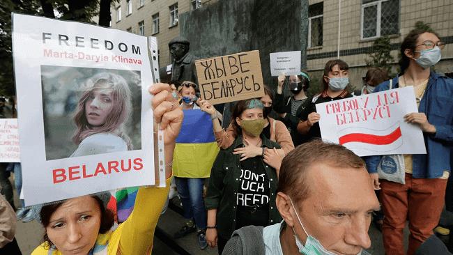 belarus protest minsk protestors